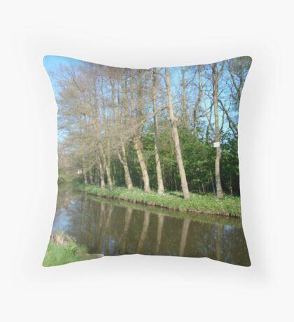 Egton Bridge --  calm summer day Throw Pillow