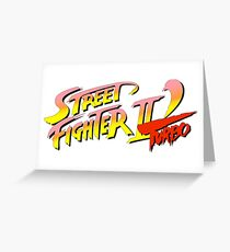 Street fighter 2 turbo Greeting Card