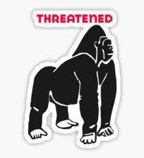 Threatened Gorilla Sticker