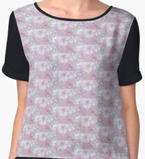 Blossoms in Pastel Pink Chiffon Top