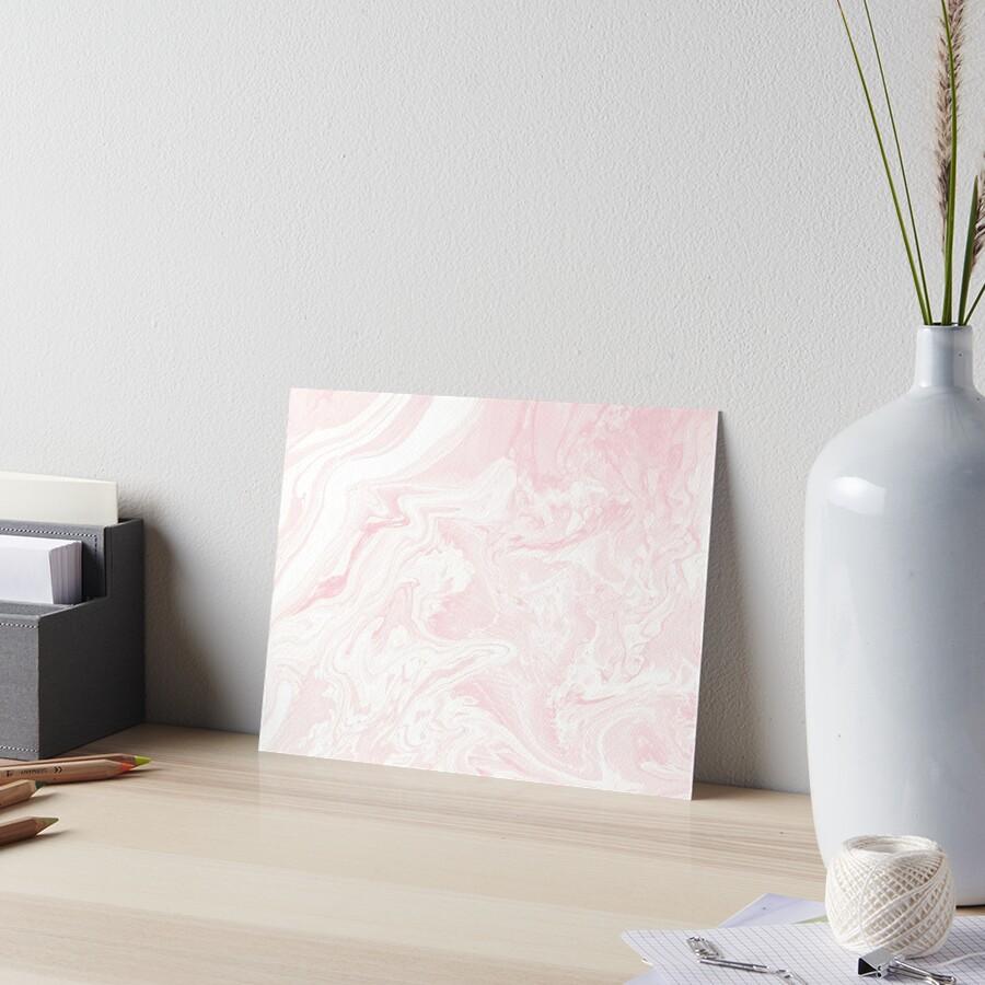 BLUSH MARBLE Art Board Print