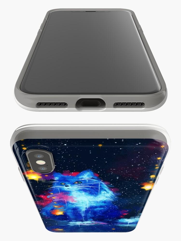 Alternative Ansicht von Kosmische Katze iPhone-Hüllen & Cover