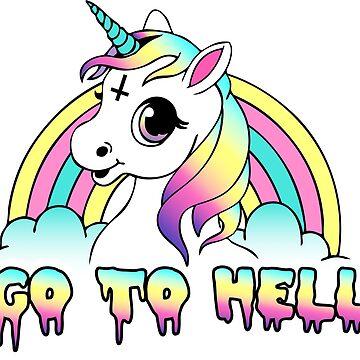 """""""Geh zur Hölle"""" Pastell Goth Unicorn von amygrace"""