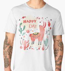 Happy Lama Men's Premium T-Shirt