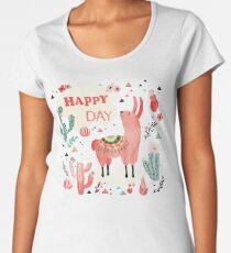 Happy Lama Women's Premium T-Shirt