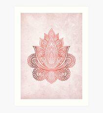 Lámina artística Rose Gold Lotus