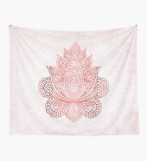 Rose Gold Lotus Wall Tapestry