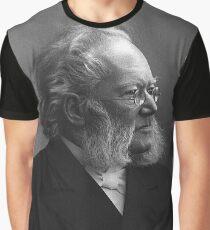 Henrik Ibsen - black and white Graphic T-Shirt