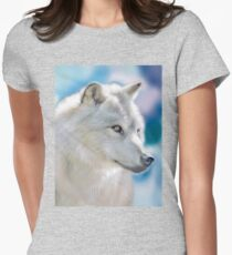 The Silver Wolf of the North Women's Fitted T-Shirt