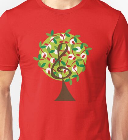 Musical Cherry Notes Tree T-Shirt