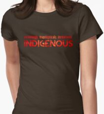 Unapologetically Indigenous Women's Fitted T-Shirt