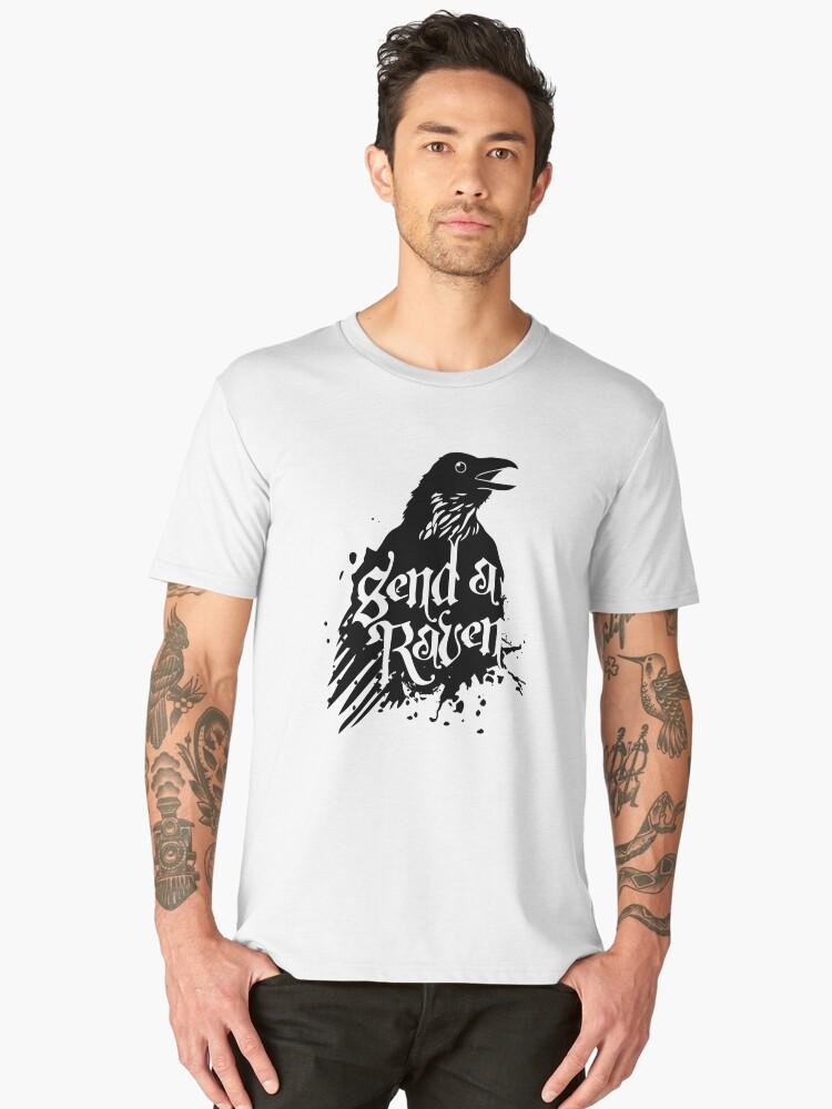 Send a Raven Men's Premium T-Shirt Front