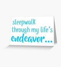 buffy - sleepwalk Greeting Card
