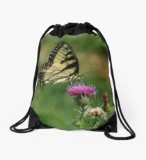 Tiger Swallowtail Butterfly Drawstring Bag