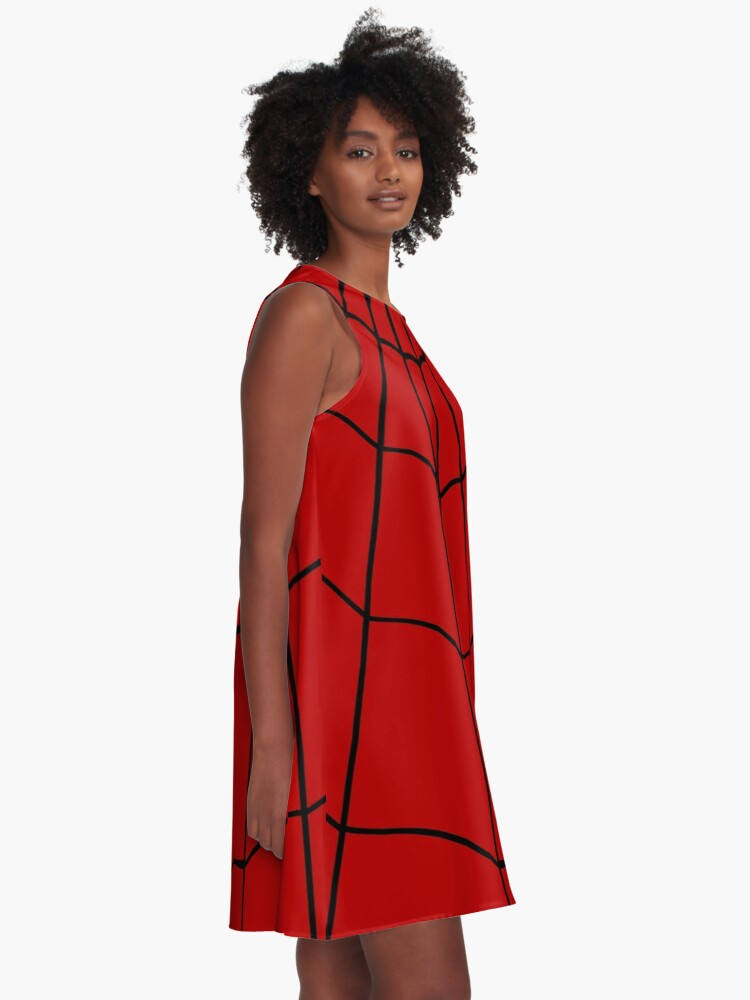Alternate view of Spider Web - Red A-Line Dress