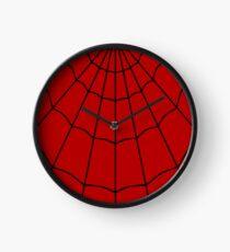 Spider Web - Red Clock
