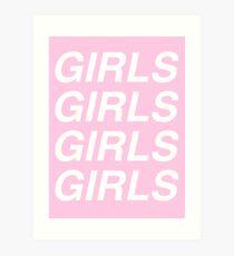 girls girls girls - sapphic Art Print
