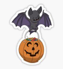 Trick or Treat Bat Sticker