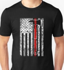 Thin Red Line Firefighter Men's US Flag Shirt T-Shirt