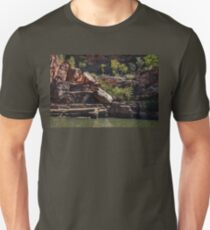 Rocky cliff face at Katherine River Gorge in Australia Unisex T-Shirt