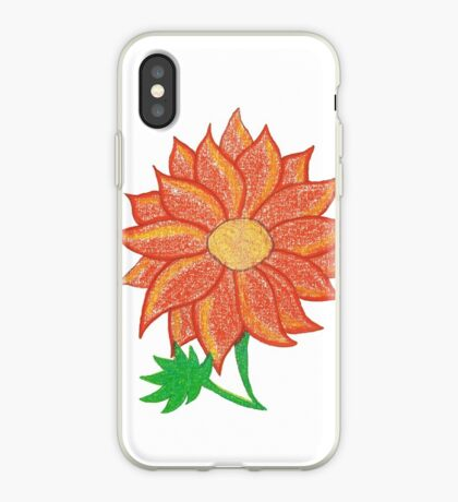 Orange Flower iPhone Case