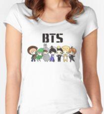 BTS 21. Jahrhundert Mädchen (Halloween ver.) Tailliertes Rundhals-Shirt