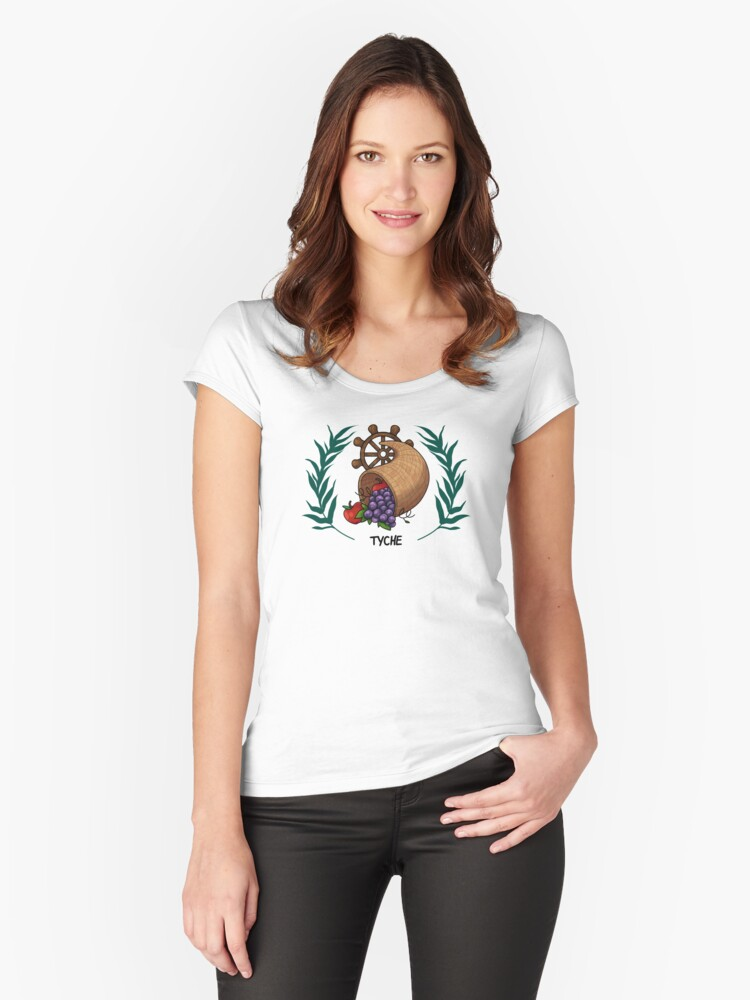 Tyche Inspired Cabin Symbol Womens Fitted Scoop T Shirt By