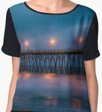 Soft Wavey Blue Sunrise Chiffon Top