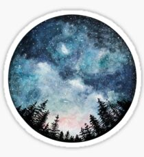night sky nature trees Sticker