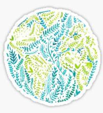 Aquarell Erde Welt Sticker