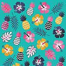 Für immer Sommer-tropisches Muster auf tadellosem Grün von daisy-beatrice