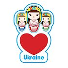 Three Matryoshka Babushka Dolls by MaShusik