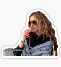 Carrie Bradshaw - Glass of Wine Sticker