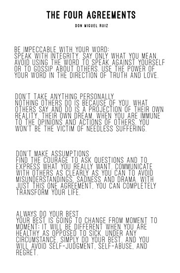The Four Agreements Photographic Prints By Andreaanderegg Redbubble