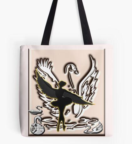 Black Swan Dancing (3700  views) Tote Bag