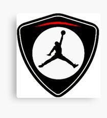 gold jordan logo Canvas Print