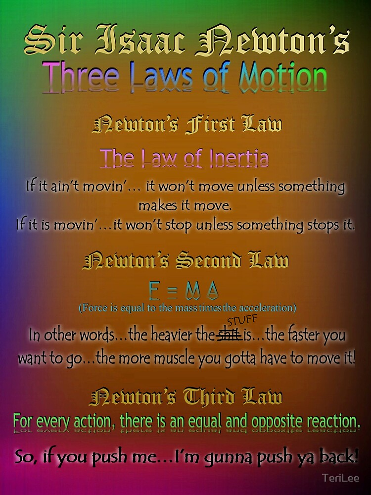 Three Laws of Motion by TeriLee