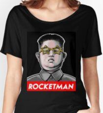 Rocketman Donald Trump Kim Jong-Un Rocket Man T Shirt Women's Relaxed Fit T-Shirt