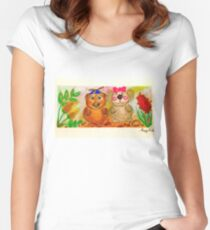 Fuzzy Friends Inc. Women's Fitted Scoop T-Shirt