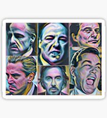 Gangsters painting movie Goodfellas Godfather Casino Scarface Sopranos Sticker