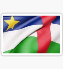 Central African Republic flag waving Sticker