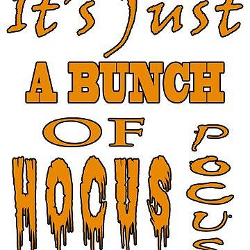 Hocus Pocus Festive Halloween T-shirt by CreativeRyszka