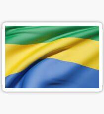 Gabonese Republic flag waving Sticker