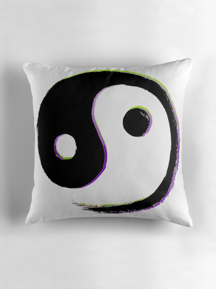 Yin yang throw pillows by mensijazavcevic redbubble for Yin yang couch