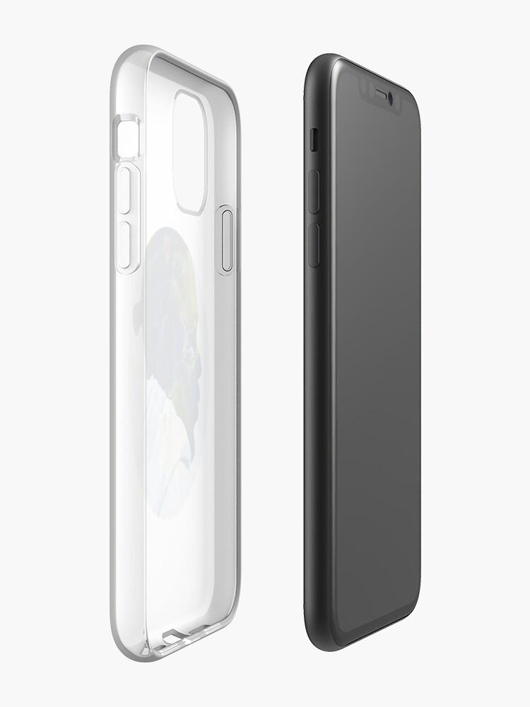 coque iphone 11 licorne , Coque iPhone «Kendrick Lamar - Tout ce qui arrive sur Terre», par delarivadesigns