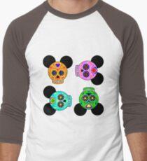 Dia De Los Muertos Ears (Pattern) Men's Baseball ¾ T-Shirt