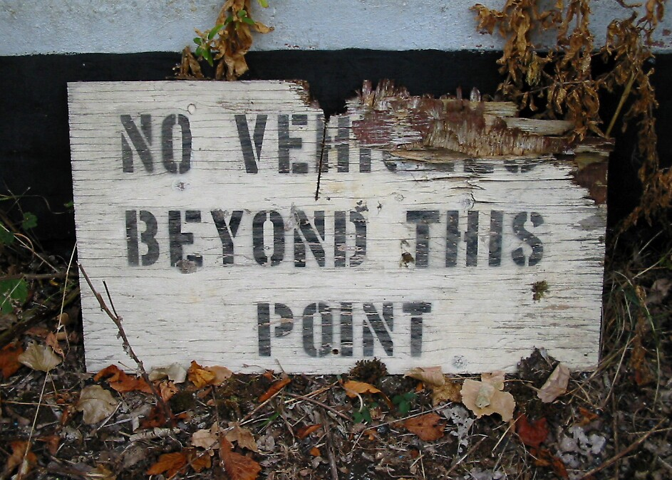No vehicles beyond this point by nybo