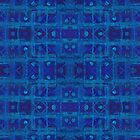 """""""Blue weave"""", seamless geometric pattern in ethnic style  by clipsocallipso"""