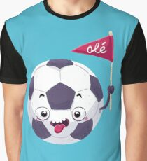 Football Face Grafik T-Shirt