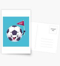 Football Face Postkarten